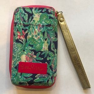 Lilly Pulitzer Wristlet- Green Jungle